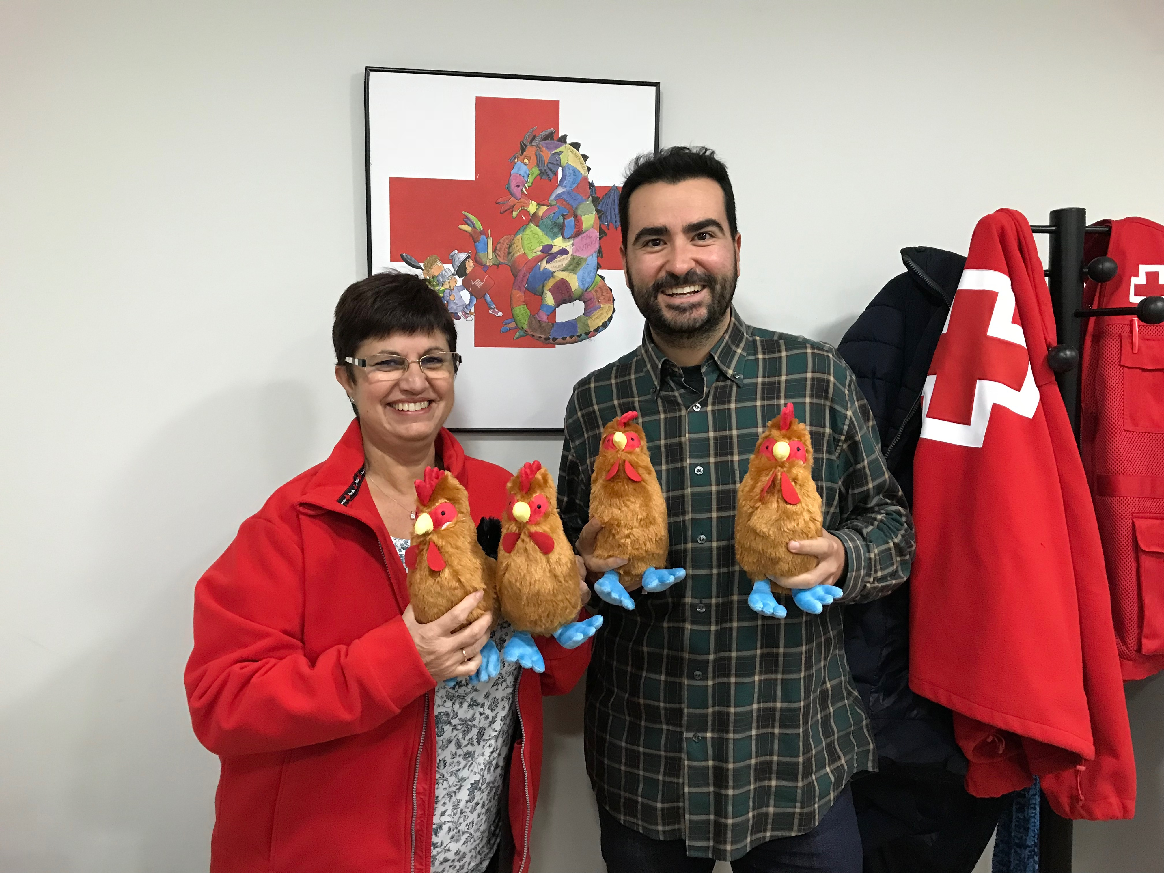 El Poti, a la Campanya de Joguines de Creu Roja
